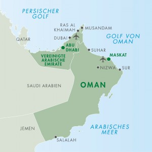 Oman Karte - Landkarte Oman Reise
