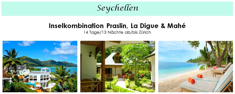 Inselkombination Seychellen Praslin, Mahé und La Digue - Ferien, Reisen, Hotels auf den Seychellen buchen