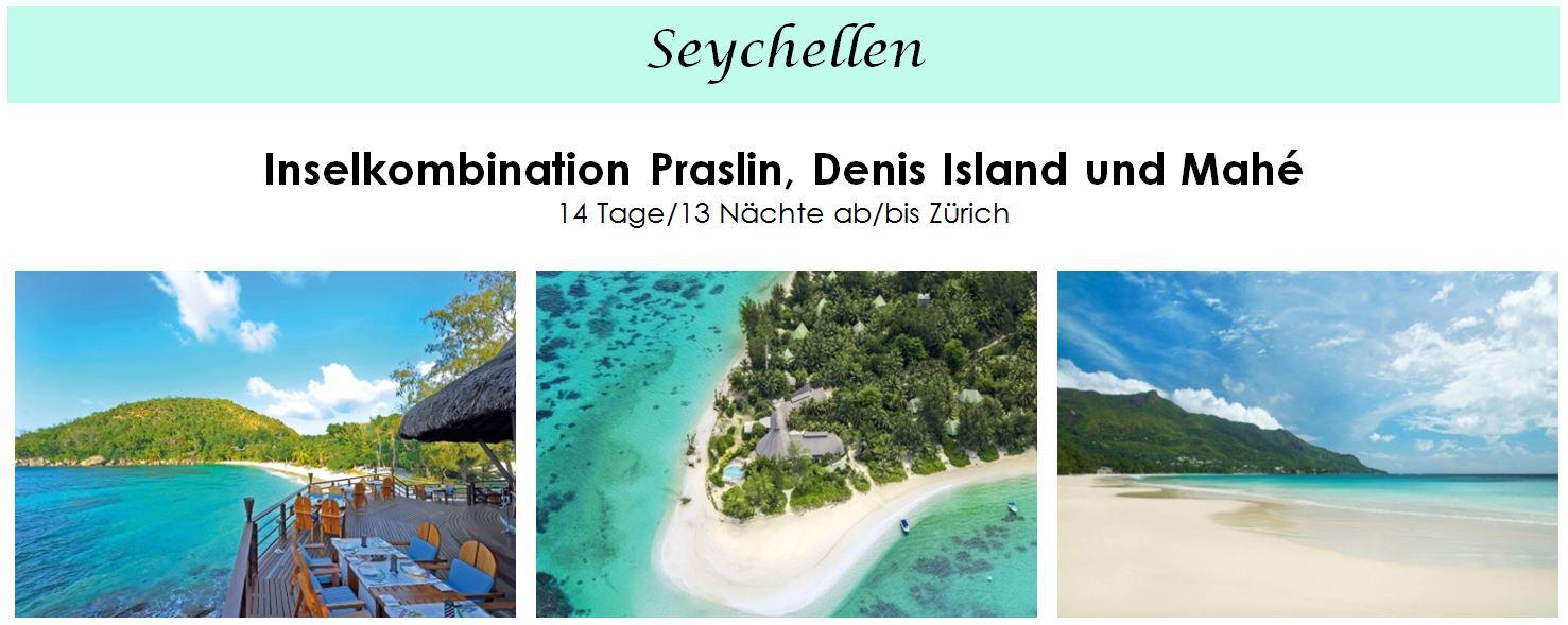 Seychellen Ferien - Inselkombination Praslin, Denis Island und Mahé