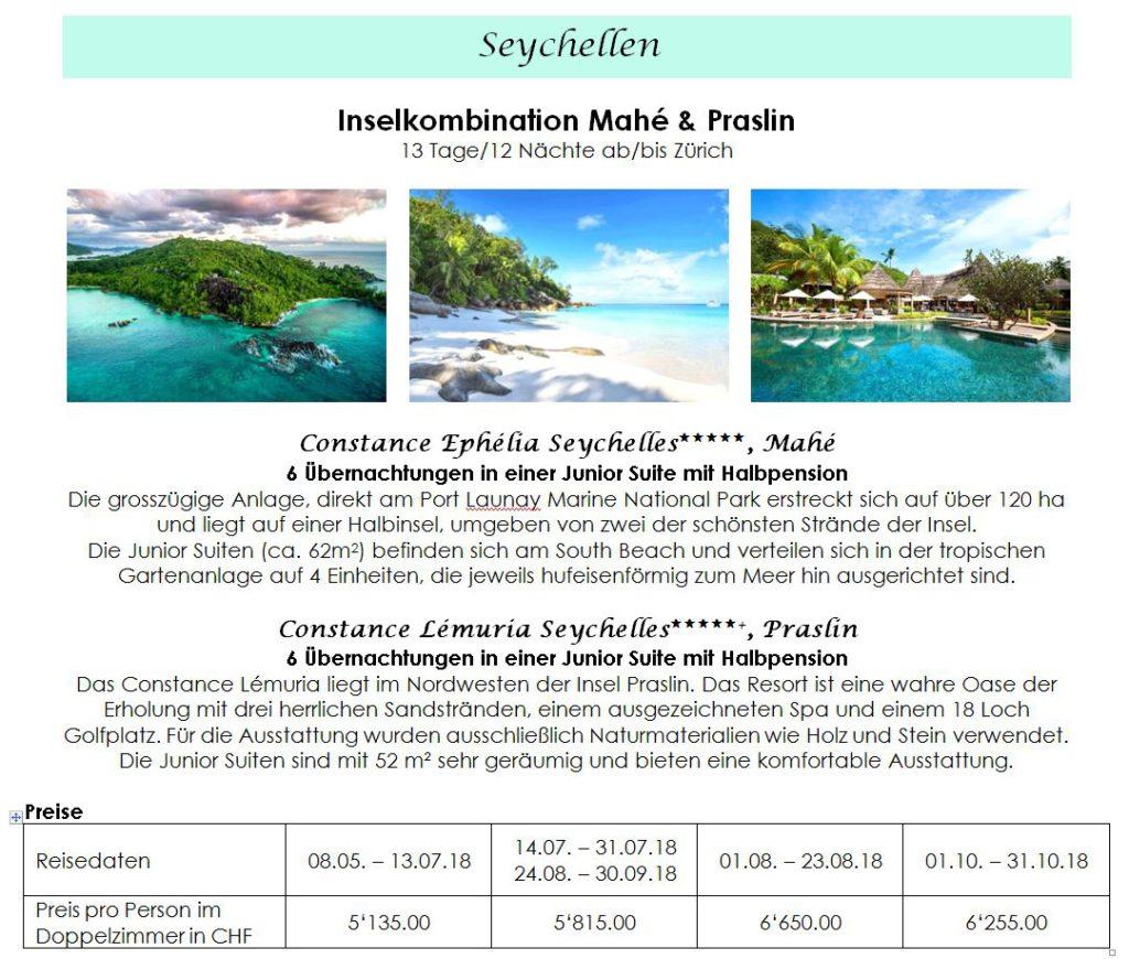 Weitere Seychellen Angebote 2018