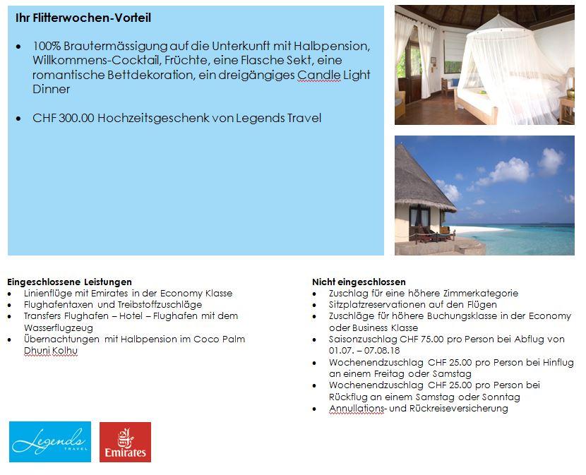 Malediven - Flitterwochen - Hochzeitsreise - Malediven - Coco Palm Dhuni Kolhu