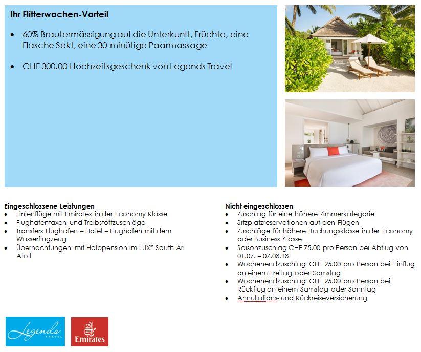 Hochzeitsreise Malediven 2018