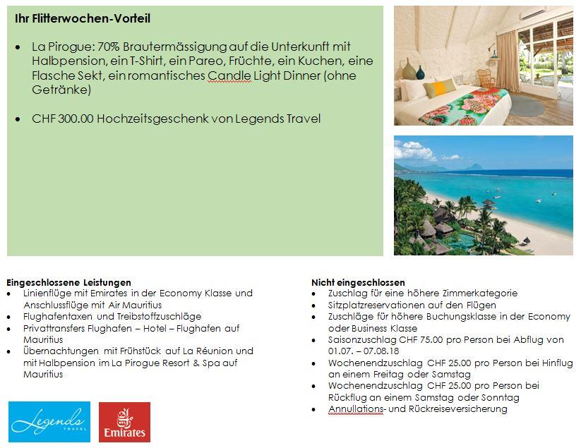 Flitterwochen -La Reunion - Mauritius - Kombination - Hochzeitsreise - Hotel - Mauritius - La Pirogue - Mietwagen - Rundreise