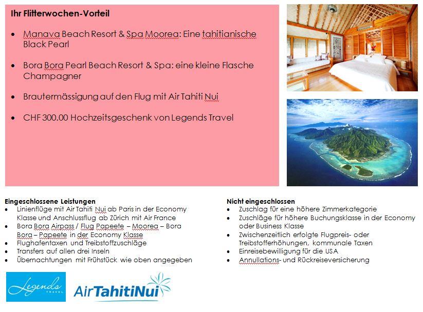 Südsee Hochzeitsreise - Tahiti - Bora Bora - Flitterwochen