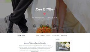 Hochzeitsreise schenken lassen - Webseite