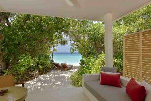 Strandvilla Malediven mit privatem Pool