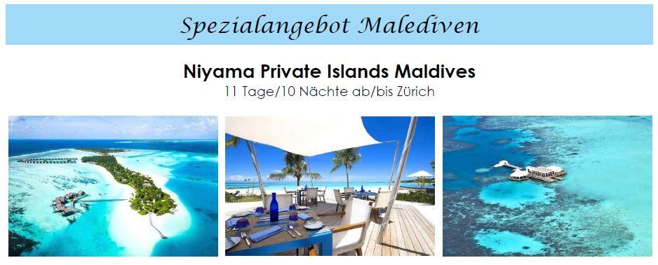 Malediven Wasserbungalow - Villa für Flitterwochen  Malediven