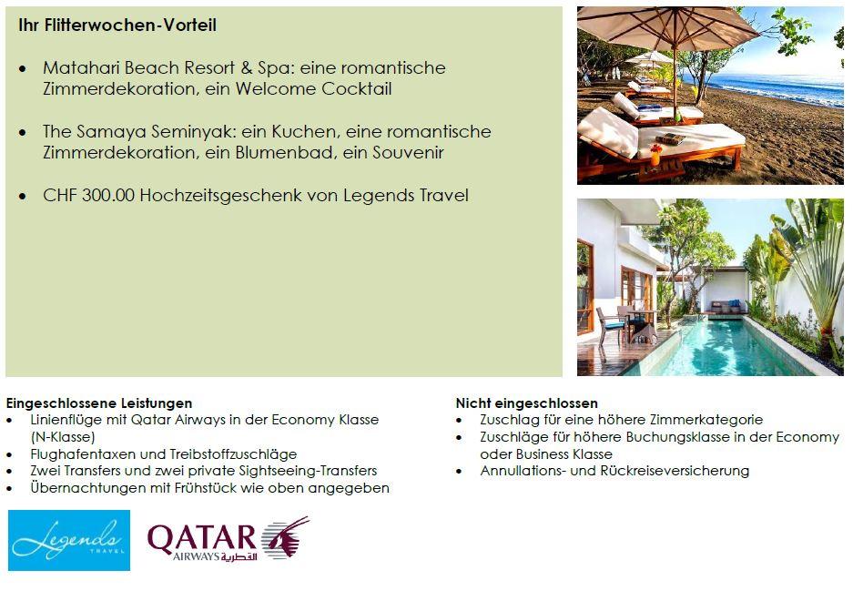 Bali Honeymoon buchen, Flitterwochenvorteile