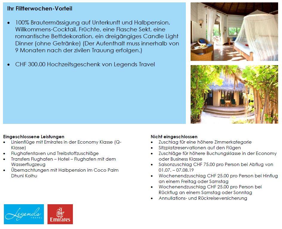 Hochzeitsreise Malediven - Hochzeitsreise buchen - Anfrage Honeymoon exklusive Honeymoon Ferien