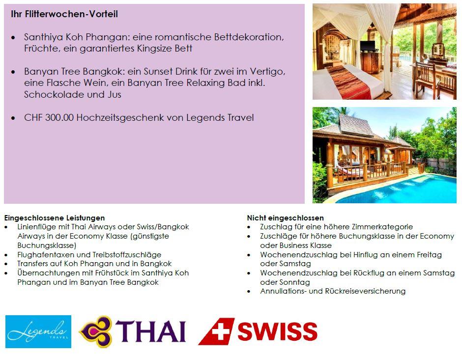 Flitterwochen Thailand - Honeymoon Ferien in Thailand
