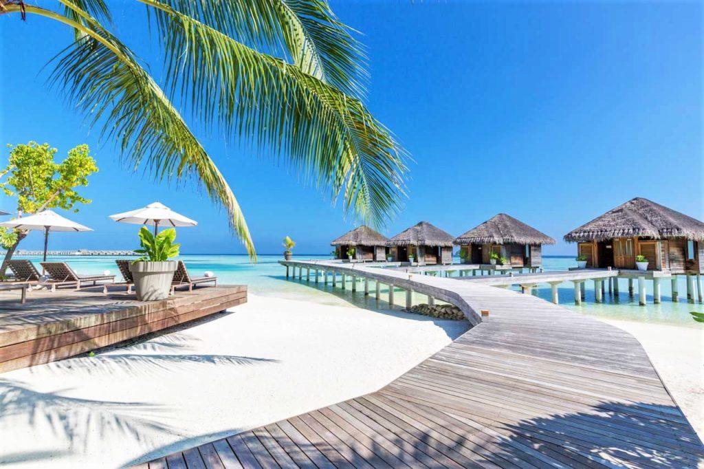 Badeferien Malediven - LUX* South Ari Atoll weisser Sandstrand