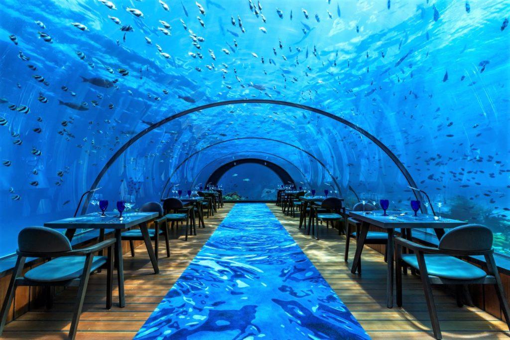 Luxusferien Malediven - Hurawalhi Island Resort Maldives - Luxusresort mit Unterwasserrestaurant