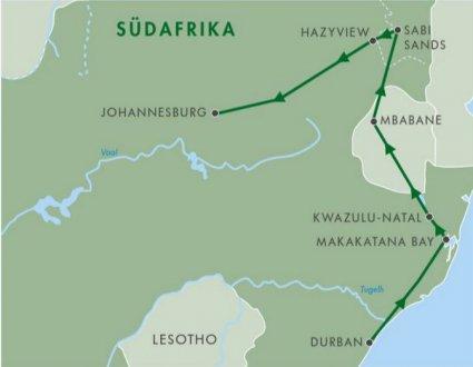 Johannesburg, 380km